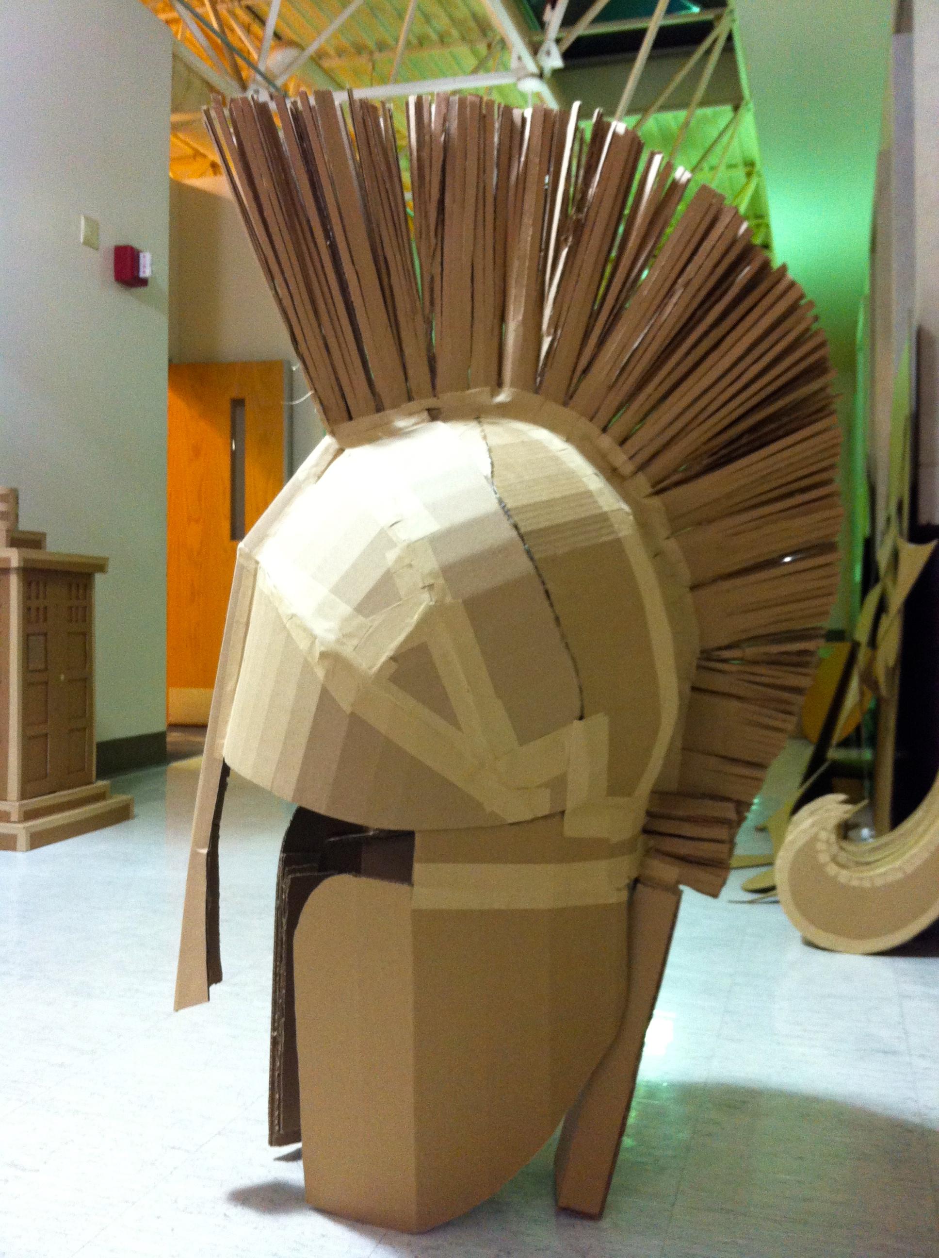 3d Cardboard Project Spartan Helmet Two Wizards Fly